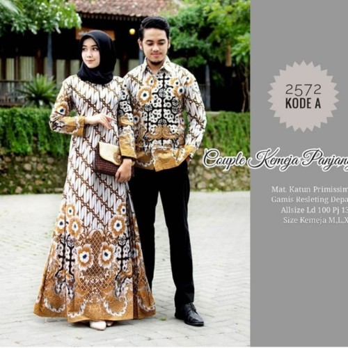 Foto Produk Baju couple dress batik sarimbit gamis jumbo dan kemeja dari TABASAMA