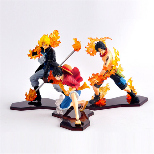 Foto Produk Action figure ASL One Piece Ace Sabo Luffy Brotherhood attack styling dari IndoActionFigure