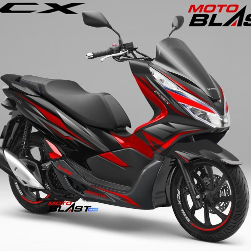 Foto Produk Decal stiker Honda PCX 150 Black Wings Ready Cutting ( NON FULLBODY) dari LAPAK MOTOBLAST