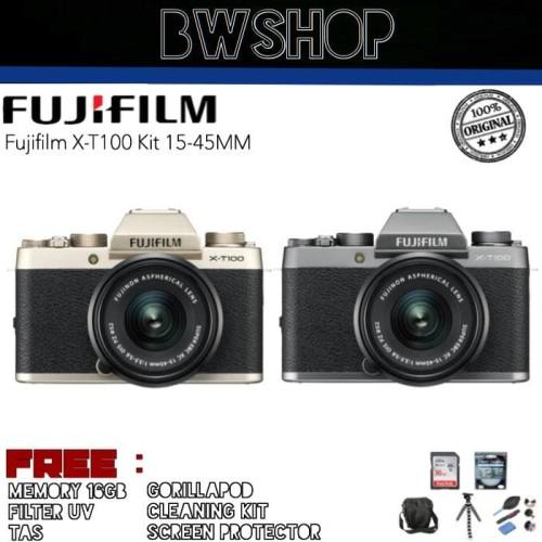Foto Produk FUJIFILM XT100 KIT 15-45MM - Standar Box dari bw shop-
