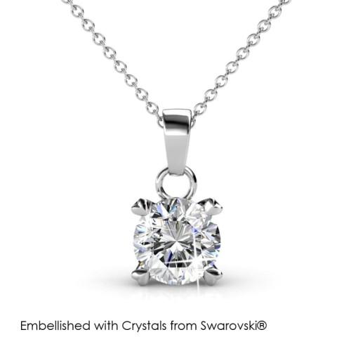 Foto Produk Sweetheart Pendant - Kalung Crystal Swarovski® by Her Jewellery - White Gold dari Her Jewellery