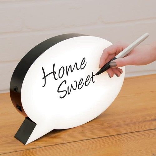 Foto Produk Garu |light box led neon box papan tulis lampu speech bubble lamp meja dari Mendekor