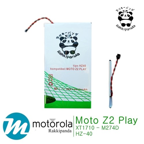Foto Produk Baterai Rakkipanda For Moto Z2 Play M274D HZ40 Double IC Protection dari nohan