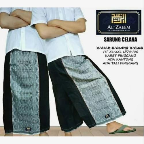 Foto Produk Best Seller Sarung Celana Al Zaeem Murah Polos Hitam Tumpal Bkn dari Ridwann acc