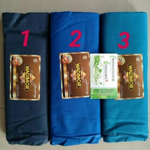 Foto Produk Best Seller Sarung Wadimor Polos Warna Khusus Biru Grosir/Ecer Murah dari Ridwann acc
