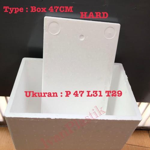 Foto Produk Stereofoam Box 47 cm HARD / Styrofoam Box 47 Benur Kualitas Hard dari IvanPlastik