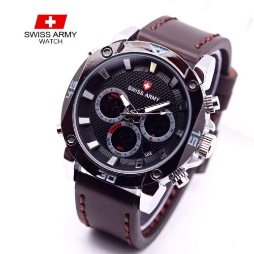 Foto Produk jam tangan SWISS ARMY PRIA DUALTIME KULIT dari Multyshop MSI
