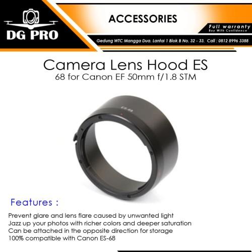 Foto Produk Camera Lens Hood ES-68 for Canon EF 50mm f/1.8 STM - Lenshood dari DG PRO