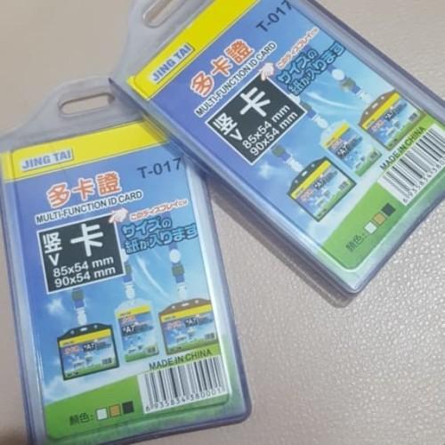 jual id card holder tempat id name card double t017 jing