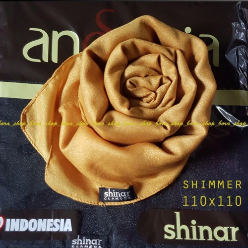 Foto Produk SHINAR GLAMOUR Ansania Jilbab Segi Empat Square Satin Shimmer dari tokomearamarva
