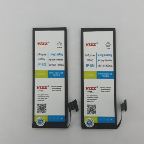 Foto Produk BATRE BATERAI BATTERY DOUBLE POWER VIZZ IPHONE 5 IPHONE 5G dari BenuaCell