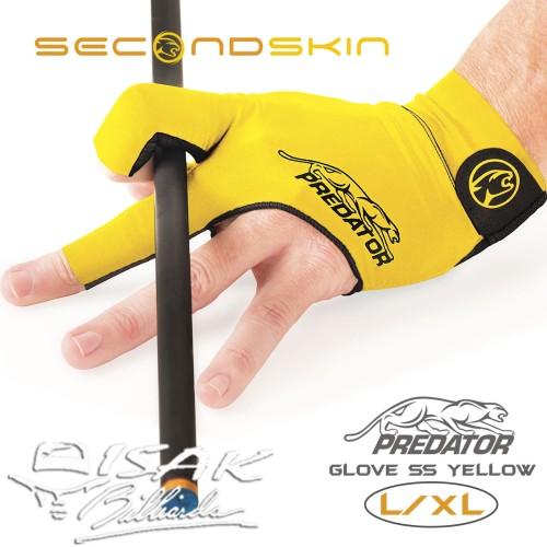 Foto Produk Predator Glove SS Yellow - L/XL - Sarung Tangan Billiard Biliar Skin dari ISAK Billiard Sport Co.