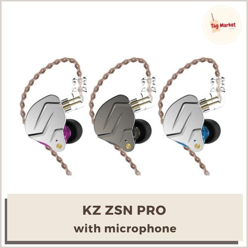 Foto Produk Knowledge Zenith KZ ZSN PRO 1BA+1DD Hybrid HiFi Bass In Ear Earphone - Abu-abu dari Tag Market Shop