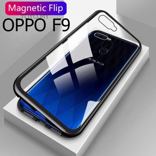 Foto Produk Oppo F9/ Pro Luxury Magnetic Casing Case Glass Back Cover 2 in 1 dari 17 Agustus