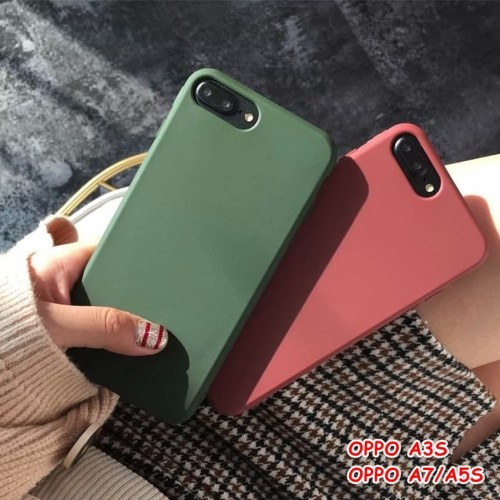 Foto Produk FOR OPPO A3S, A7/A5S - GREEN ARMY WINE RED CANDY CASE CASING SOFT - A3S. GREEN dari lakucart