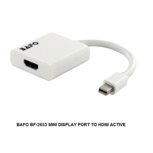 Foto Produk Kabel Mini Display Port To HDMI Active - Merk Bafo (BF-2653) dari Enter Komputer Official