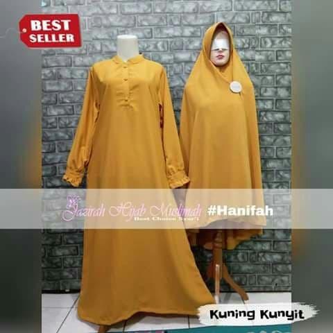 Jual Gamis Syari Hanifah Set Cadar Kuning Kunyit Kuning Kunyit S Kota Tangerang Bdc Shop Tokopedia