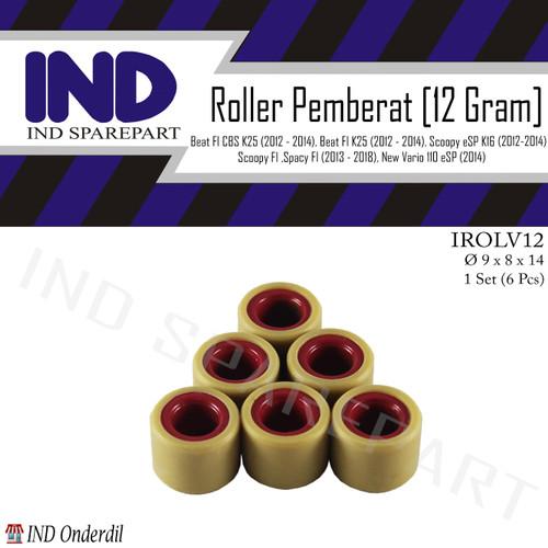 Foto Produk Roller-Roler-Loler-Loller 12 Gram-gr Vario 110 F1-eSP 2014/Beat FI-CBS dari IND Onderdil
