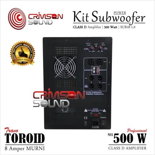 Foto Produk POWER KIT SUBWOOFER Aktif 500 Watt CLASS D Sub18-1.0 dari Crimson Sound