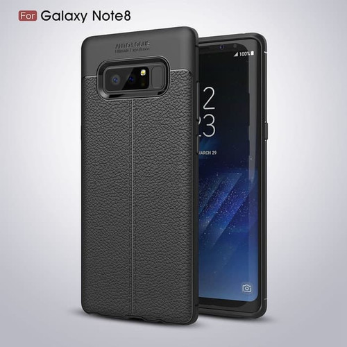 Foto Produk AUTO FOCUS CASE SAMSUNG NOTE 8 TPU LEATHER SARUNG HP KULIT JERUK dari KAKA_Shop Official