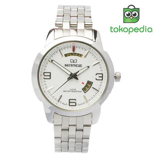 Foto Produk Jam Tangan Pria Mirage Original 8148DD Tgl/Hari Silver - Hitam dari Mirage Watch