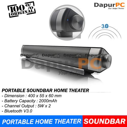 Foto Produk Home Theater Portable Bluetooth Soundbar LP-08 with Remote Control dari dapurpc
