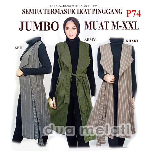 Foto Produk Fashion Muslim Gamis Outer Coat Muslim Luaran Vest Muslim Gamis dari dua melati