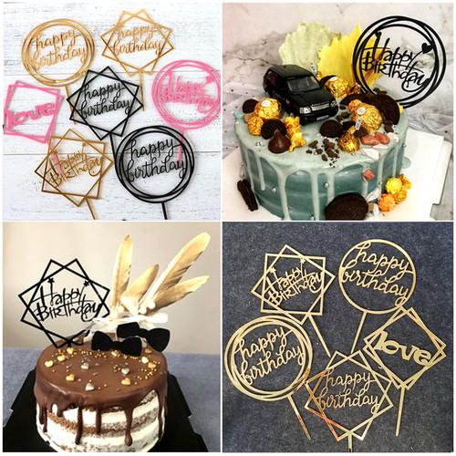 Foto Produk Cake Topper / Tusukan Hiasan Kue Happy Birthday AKRILIK MURAH dari DEKORASI VINTAGE