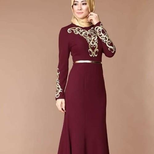 Foto Produk Busana muslim merah maron dari Doll shopping