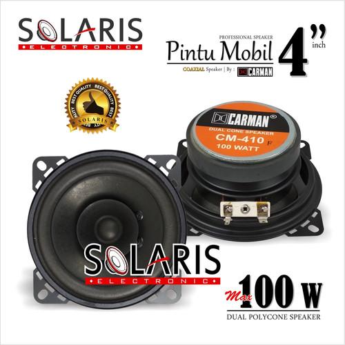 Foto Produk SPEAKER 4 Inch 100Watt DUAL POLYCONE Speaker Pintu Mobil CARMAN CM-410 dari Solaris Electronic