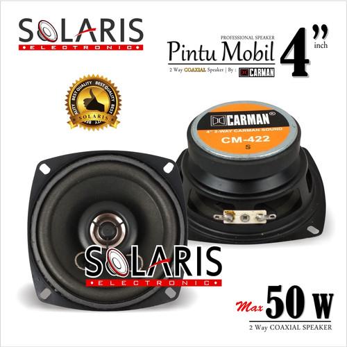 Foto Produk SPEAKER COAXIAL 4 Inch 50 Watt 2 Way Speaker Pintu Mobil CARMAN CM-422 dari Solaris Electronic