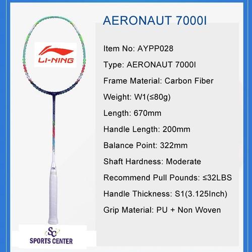 Foto Produk PROMO !! Raket Badminton Lining AERONAUT 7000i / 7000 Instinct dari Sports Center