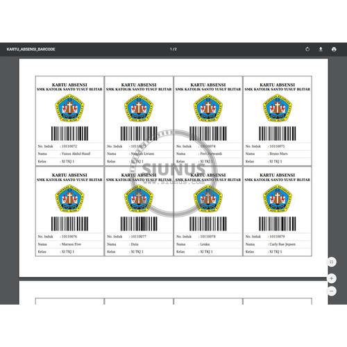 Foto Produk Program Aplikasi Absensi Siswa dengan Barcode dan Barcode Scanner dari Siunus Online Market