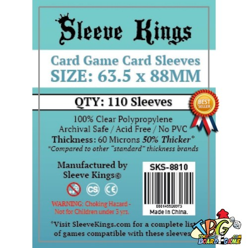 Foto Produk Sleeve Kings Splendor Card Sleeves (63.5x88mm) - 110 Pack, - MTG Size dari Toko Board Game