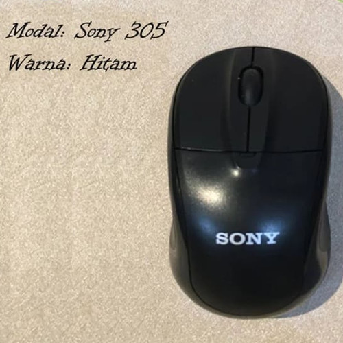 Foto Produk Wireless Mouse SONY 305 2.4Ghz - Hitam dari @accsesosiesstore