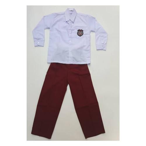Foto Produk Pakaian Seragam SD Merah Putih anak Laki Lengan Panjang Celana Panjang - 6-7 tahun dari Syaraaswordrobe