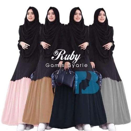 Jual Promo Harga Baju Gamis Wanita Terbaru Ruby Syari Free Hijab Jumbo Cengkareng Jubairshop Tokopedia