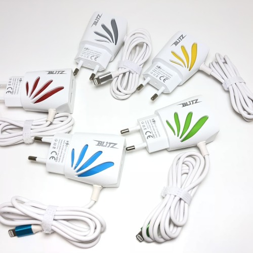 Foto Produk TC Travel Charger Type C Flower BLITZ + 2 USB Quick Charge 2.1A dari Blitz Indonesia