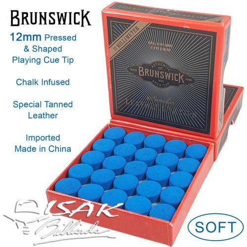 Foto Produk Brunswick Blue Diamond Cue Tip - KW 12mm - 1 Box 50 pcs Billiard Stick dari ISAK Billiard Sport Co.