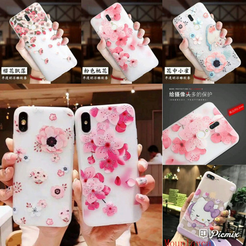 Foto Produk Luminous Spring Flowers Case For Xiaomi, Oppo, Vivo, Samsung & Iphone dari silver phone