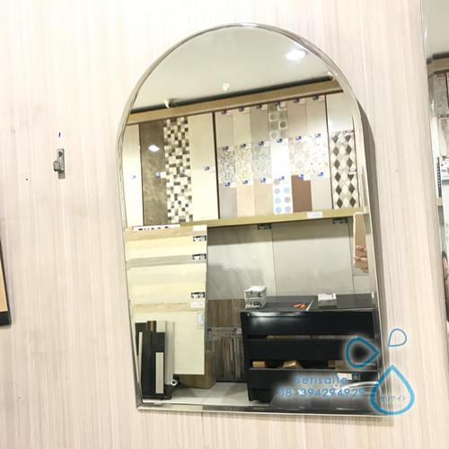 Foto Produk Kaca Cermin Gantung Oval Polos / Cermin Washtafel Cermin Kamar Mandi dari serisaito