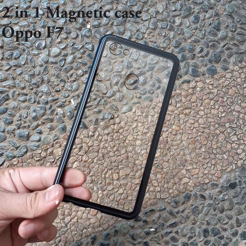 Foto Produk Oppo F7 Premium 2 in 1 magnetic phone case -Transparant dari importking
