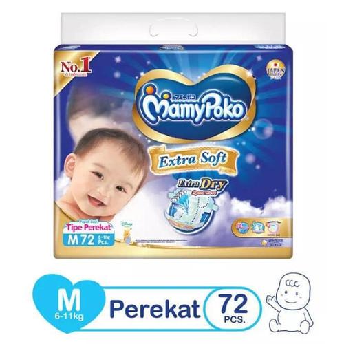 Foto Produk Mamypoko Extra Soft Extra Dry Tape M72 dari Dian SHOP 79