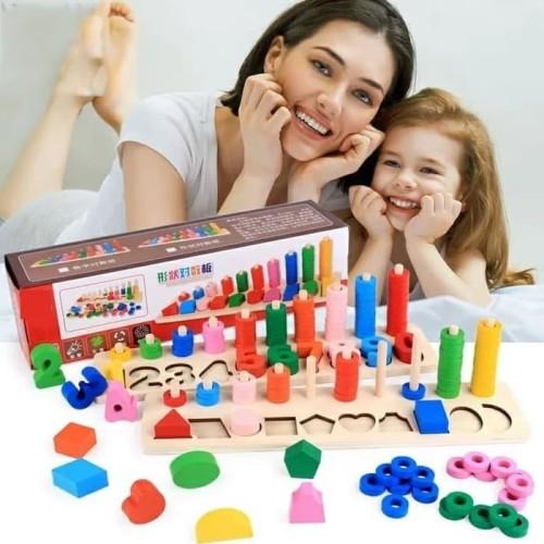 Foto Produk Mainan Edukasi Anak Puzzle montesori Ring dan angka Digital dari AUTO KID II