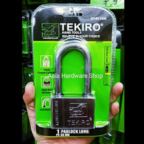 Foto Produk Kunci Gembok 60mm Leher Panjang Tekiro Rumah Pagar 60 mm Padlock Long dari Asia Hardware Shop