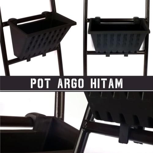Foto Produk Pot Tanaman Merambat Pot Argo Tempel Gantung Plastik Hitam dari MM mini store Blitar
