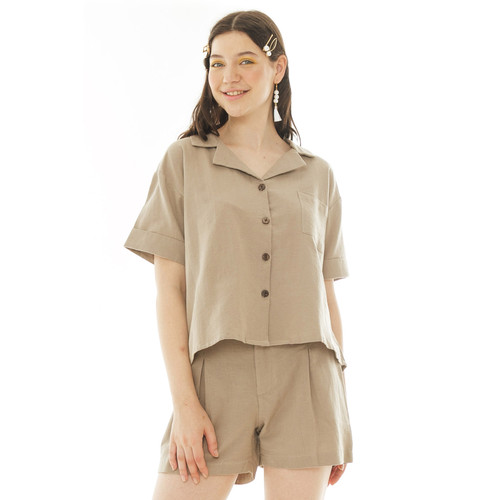 Foto Produk May Blouse in Olive- Beatrice Clothing dari Beatrice Clothing