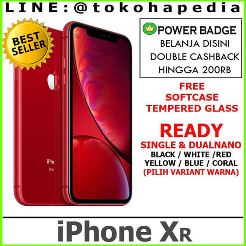 Foto Produk [DUAL SIM]iPhone 128GB / 128 XR - Black White Yellow Red Coral Blue - WHITE dari tokohapedia
