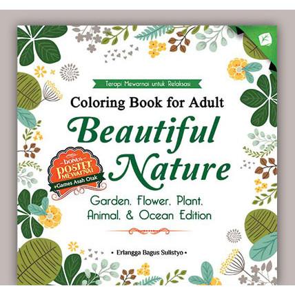 Foto Produk Coloring Book for Adult Beautiful Nature dari Toko Kutu Buku