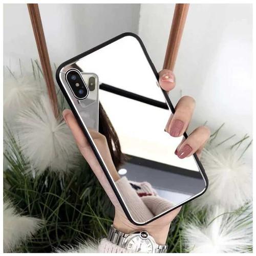 Foto Produk Mirror Case Xiaomi, Oppo, Vivo, Realme, Samsung & Iphone (TPU) dari silver phone